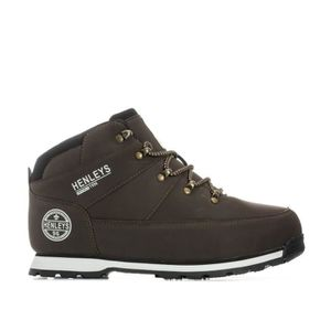 BOTTE Boots Henleys Woodland pour homme en marron.