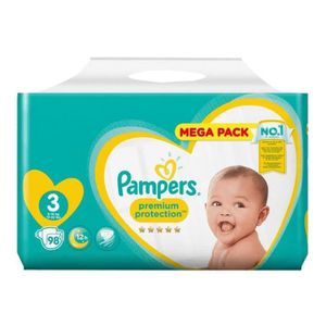 COUCHE PAMPERS Premium Protection Taille 3, 6-10 kg, 98 c