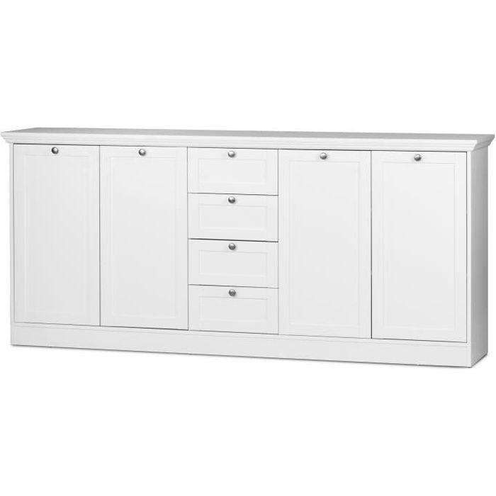 LANDWOOD Buffet classique - Blanc - L 200 cm