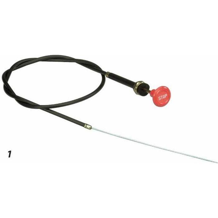 Câble arrêt moteur complet L 1200 MM