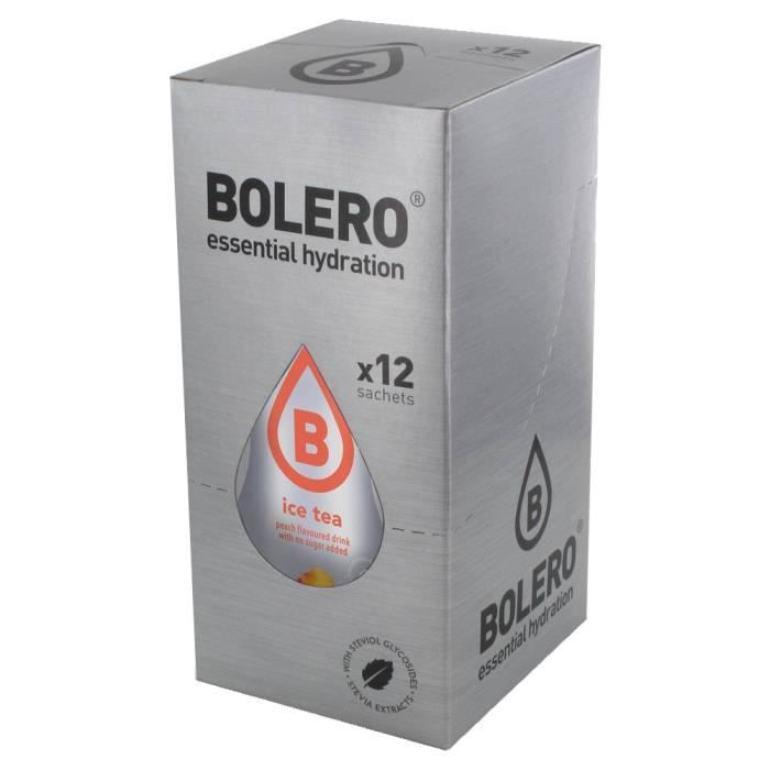 12 x Bolero Powdered Drinks Ice Tea 8 g sachet - Pêche