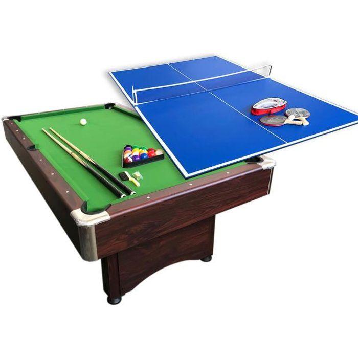 BILLARD AMERICAIN 7FT Snooker et PLAN TENNIS DE TABLE - table de billard mod. Sirio
