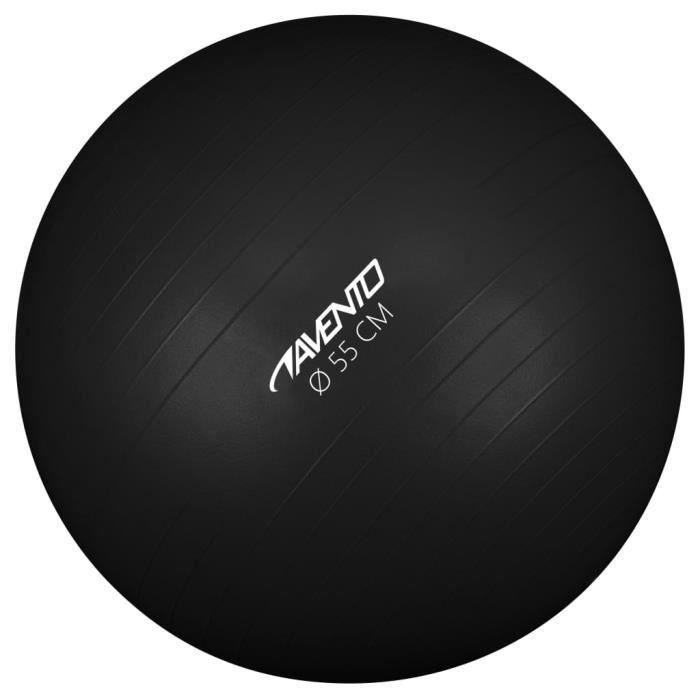 Avento Magnifique-Ballon de fitness-d'exercice Ballon de Gymnastique pour Fitness Exercice Yoga - Diamètre 55 cm Noir✌5609