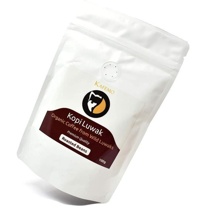 Kopi Luwak Premium (Café issu de Luwaks sauvages) - Café en Grains - Le Café le plus rare au Monde