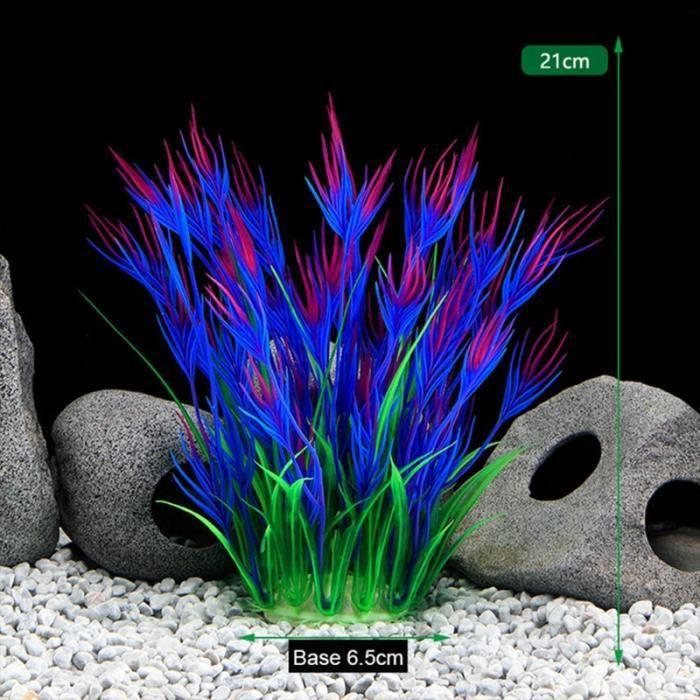 Décoration - aquarium,Plantes décoratives artificielles pour Aquarium, 16 Styles en option, ornement pour - Type 230-Purple-S