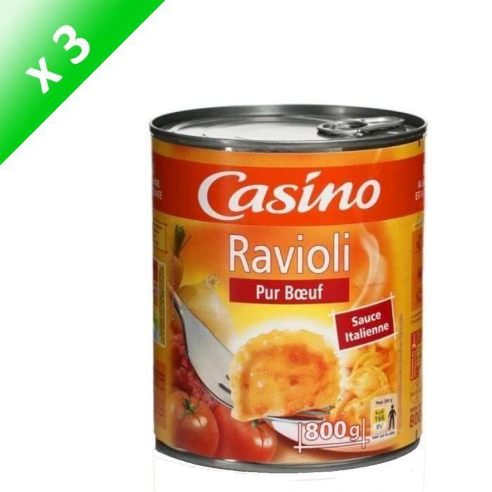 [LOT DE 3] Ravioli pur bœuf PANZANI 800g - Sans colorant ni conservateur