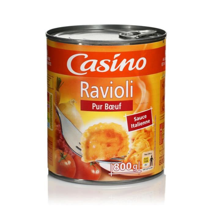 Ravioli pur bœuf CASINO 800g - Sans colorant ni conservateur