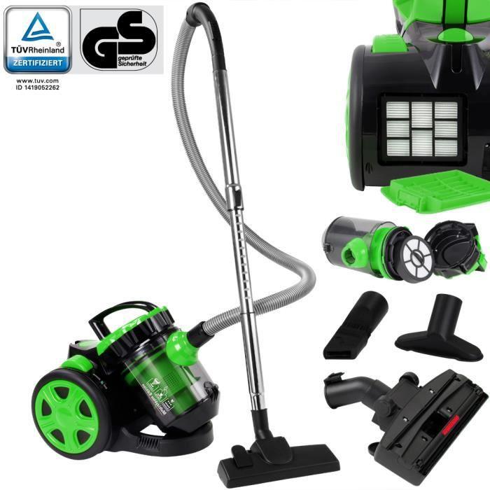 Aspirateur sans sac vert max.900 Watt - ECO Power - Multicyclone Brosse 2 en 1