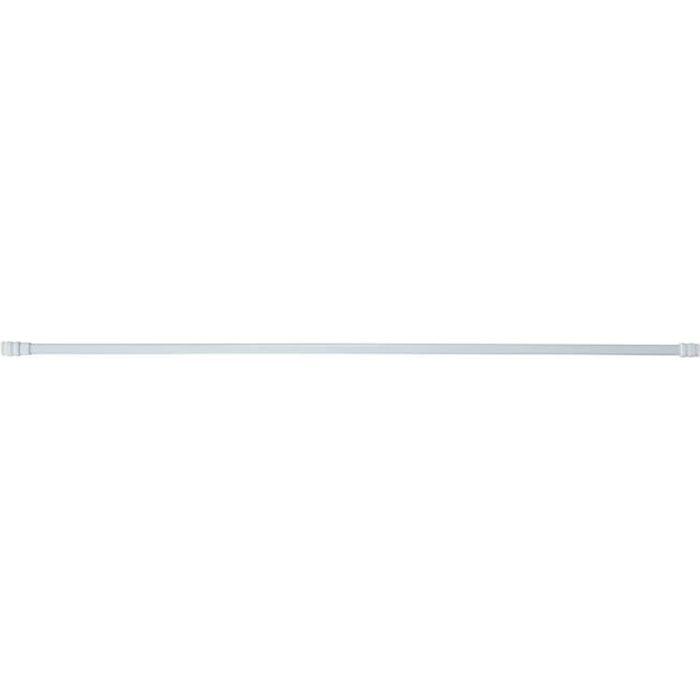 Tringle Ovale Extensible 13mm en Métal Blanc 80 à 140 cm
