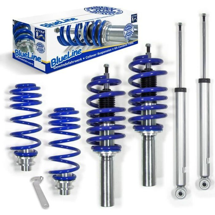 KIT SUSPENSION COMBINE FILETÉ AUDI A5 B8 TYPE 8T DE 2007 A 2011,pour motorisation : 1.8TFSI/2.0TDI/Quattro/2.0TFSI/Quattro/2.7TDI/