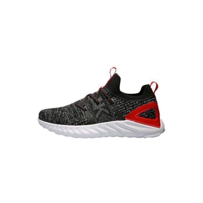 Chaussures de running Peak taichi running knitted - gris/rouge - 47