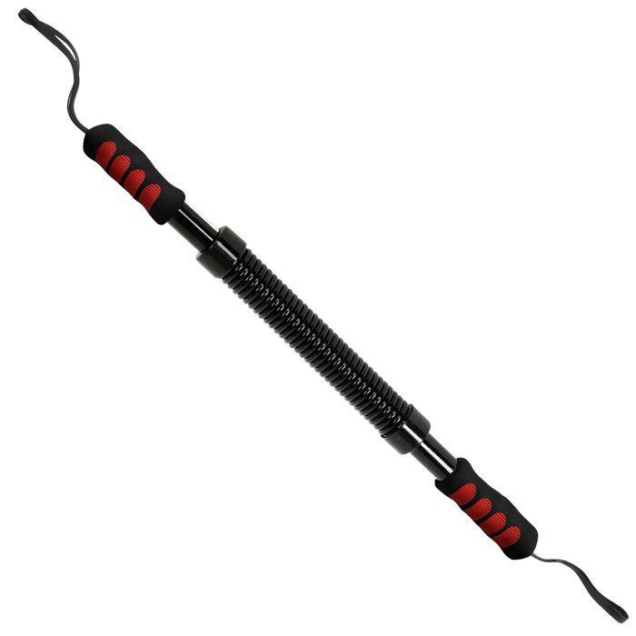 Physionics® Power Twister - 20 kg de Résistance, Extensible, Flexible, Barre en Acier - Barre à Ressort, Appareil Bras