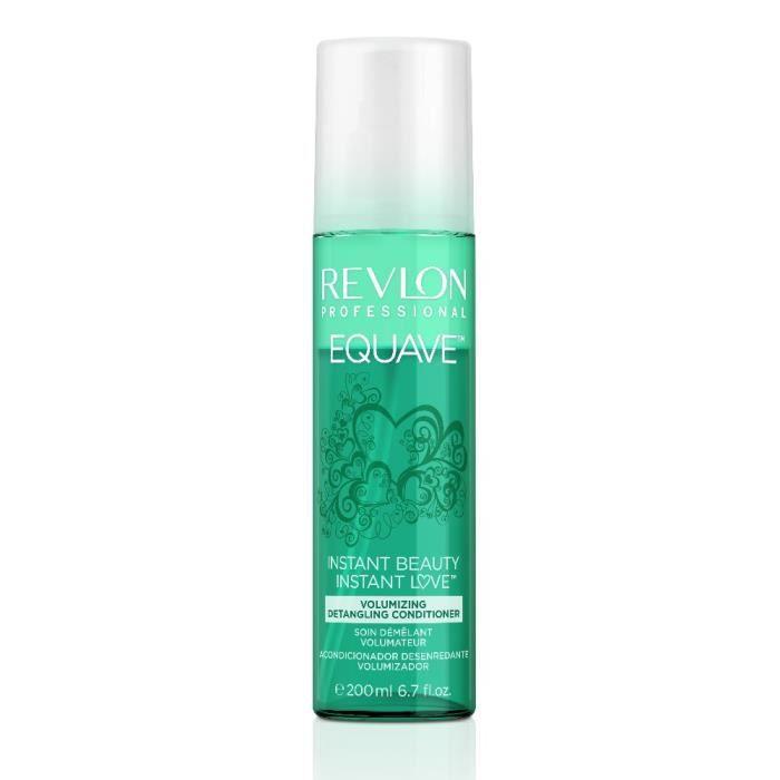 Revlon, Soin démêlant volumateur sans rinçage Equave, Volumizing 200ml, Soin sans rinçage Volume Cheveux Fins et Plats,