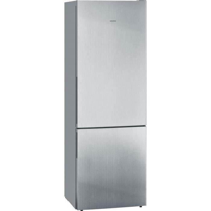 SIEMENS KG49EAICA - Réfrigérateur combiné pose - libre - 413L (302+111) - Froid statique - 70x201cm - Inox