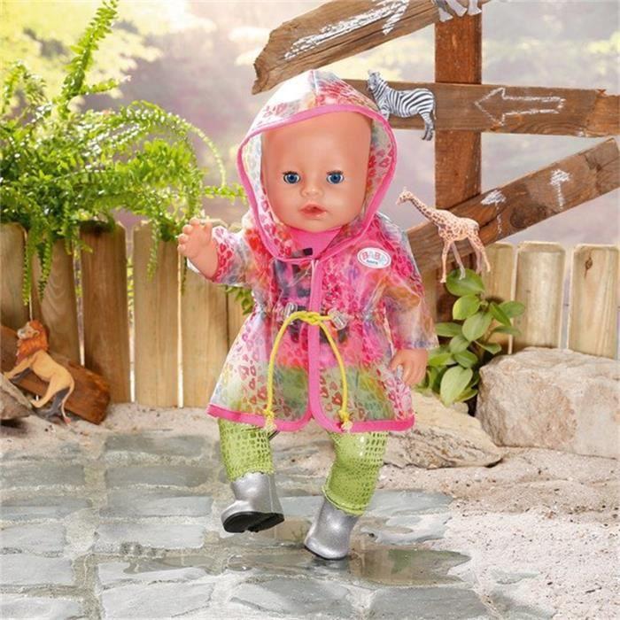 BABY Born Ensemble de pluie Arc-en-ciel luxueux et branché pour poupée de 43 cm
