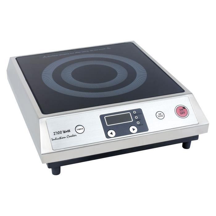 Plaque induction professionnel Zyco 2700W, minuterie et contrôle de température