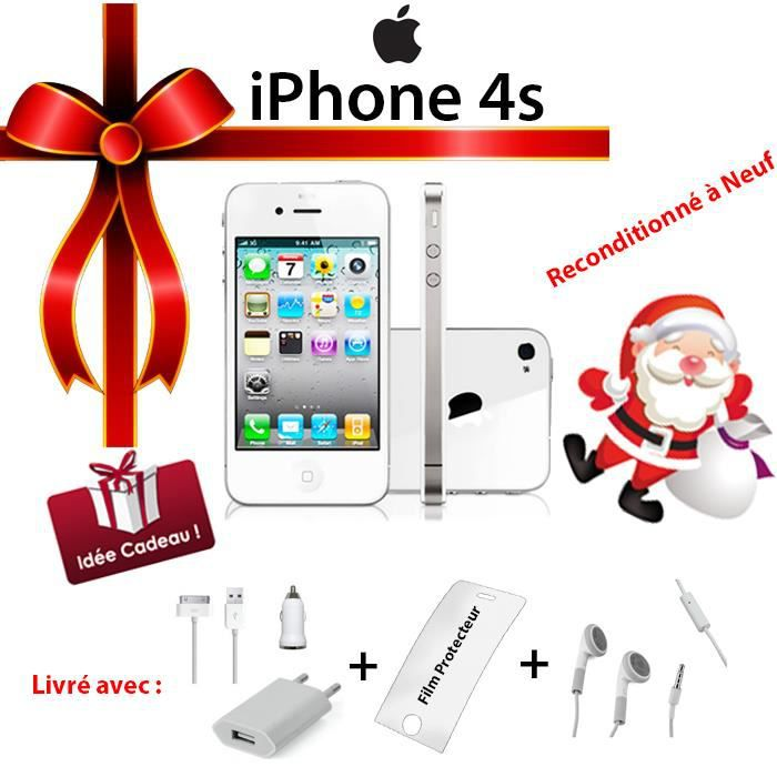 apple iphone 4s 16go blanc neuf achat smartphone pas. Black Bedroom Furniture Sets. Home Design Ideas