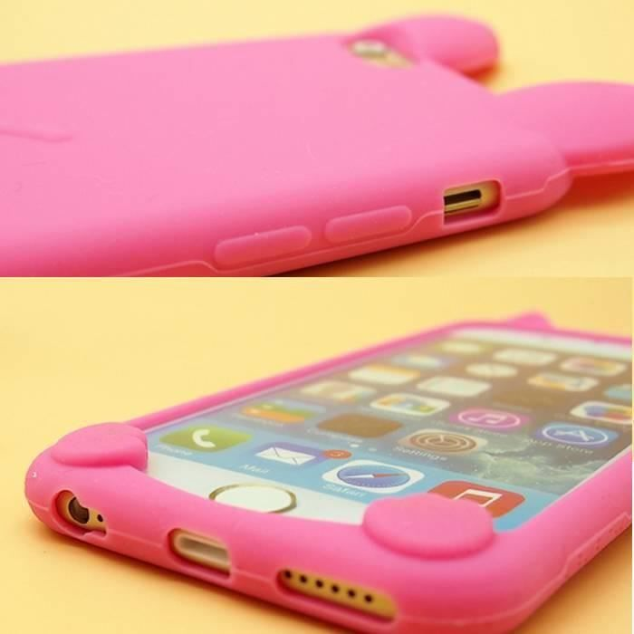 coque iphone 7 chat rose