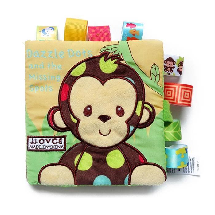 Livre De Puzzle En Tissu Pour Bebe Animal Livre Pour Bebe En Developpement Precoce Singe