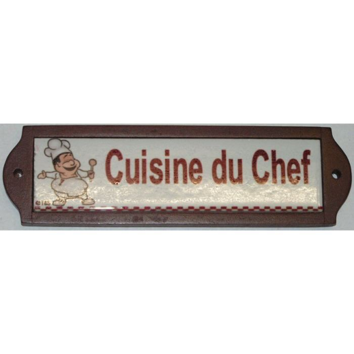 plaque metal de porte ceramique cuisine du chef achat vente plaque de porte lettre. Black Bedroom Furniture Sets. Home Design Ideas
