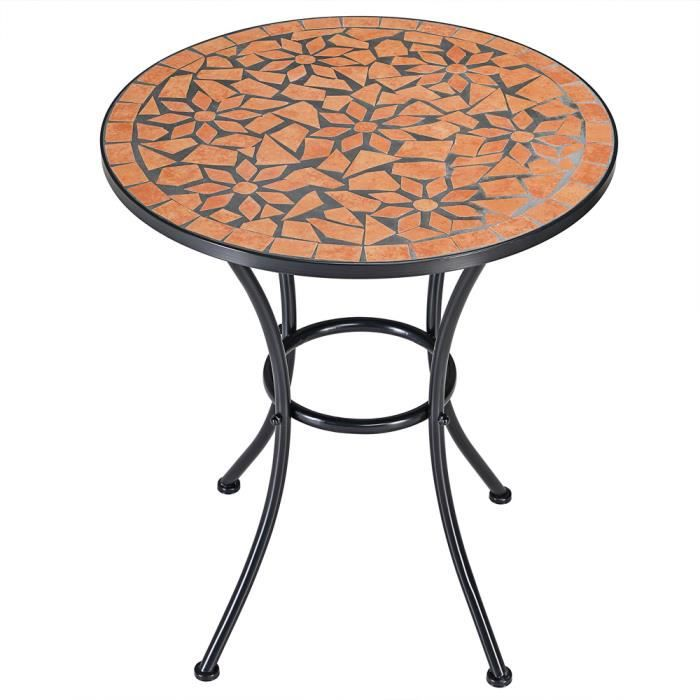 Table gu ridon mosa que roma fer forg 70x60cm achat for Table en fer exterieur