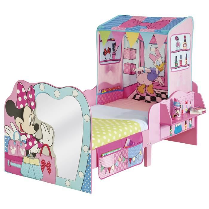 lit petit enfant minnie mouse avec tente coloris rose. Black Bedroom Furniture Sets. Home Design Ideas
