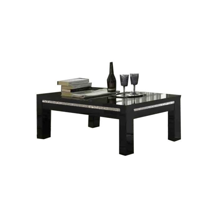 table basse carre cromo laque noir achat vente table. Black Bedroom Furniture Sets. Home Design Ideas