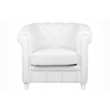 Fauteuil chesterfield blanc achat vente fauteuil soldes d t cdiscount - Fauteuil chesterfield blanc ...