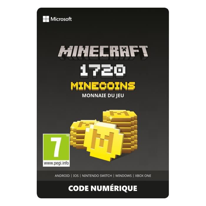 EXTENSION - CODE Minecraft : Pack de 1720 Minecoins pour Xbox One