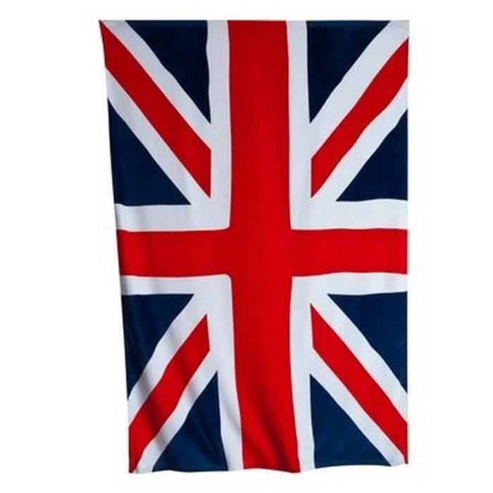 serviette de bain union jack 100 coton achat vente serviettes de bain cdiscount. Black Bedroom Furniture Sets. Home Design Ideas