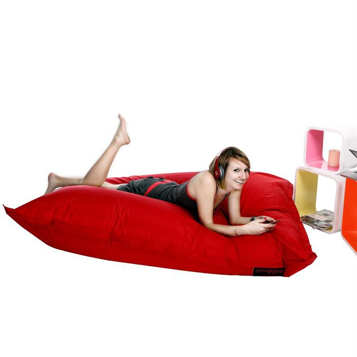 housse de pouf g ant rouge big milibag achat vente housse de chaise cdiscount. Black Bedroom Furniture Sets. Home Design Ideas