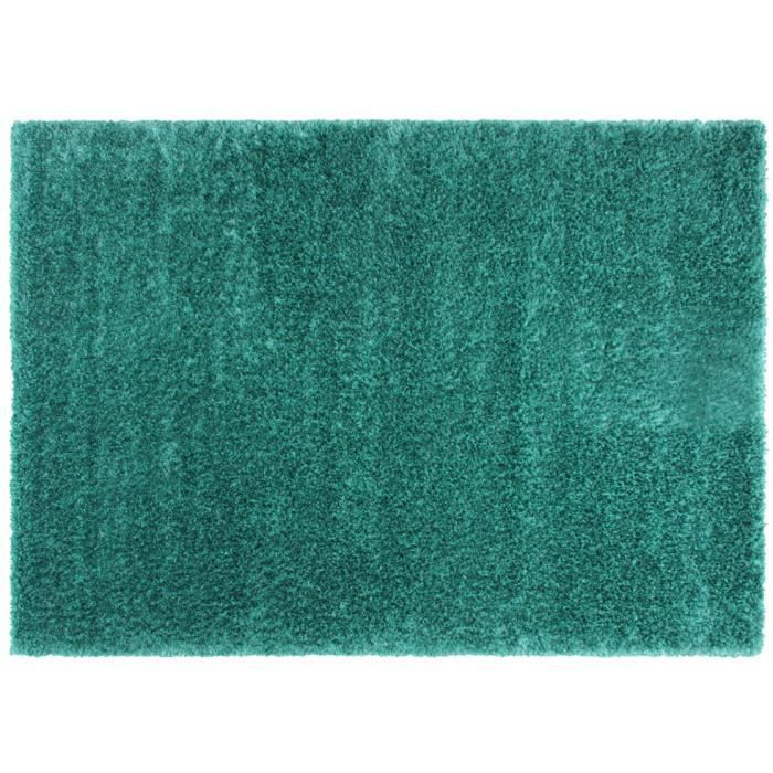 Tapis shaggy 160x230 turquoise flavio achat vente tapis cdiscount - Tapis shaggy 160x230 ...