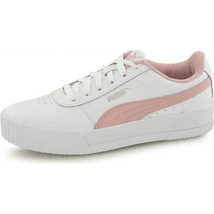 Baskets Puma Carina L blanc / rose enfant fille