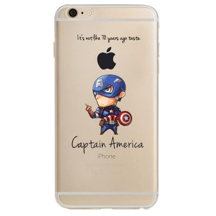 coque iphone 6 silicone marvel