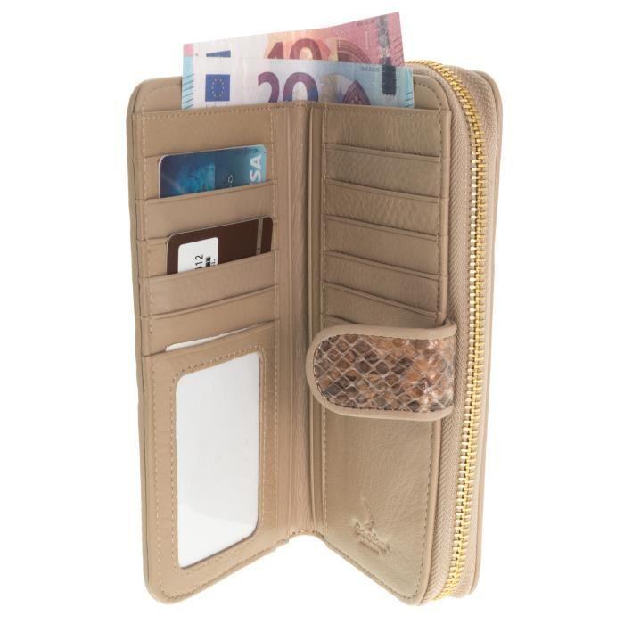 Cuir véritable petit porte-monnaie avec zip doublé Poche Sac à main coffret cadeau-PROMOTION!