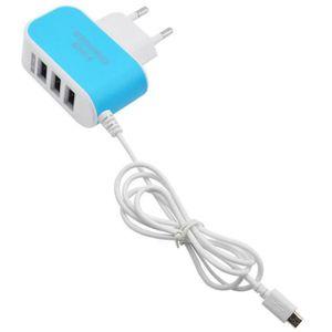 CHARGEUR TÉLÉPHONE YYY60530683BU@3.1A 3 en 1 port USB europenne plug