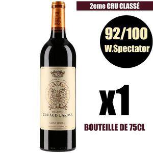 VIN ROUGE X1 Château Gruaud Larose 2015 Rouge 75 cl AOC Sain