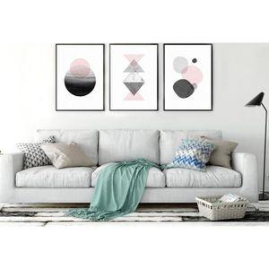 OBJET DÉCORATION MURALE Affiche de tableau de géométrie de style nordique,