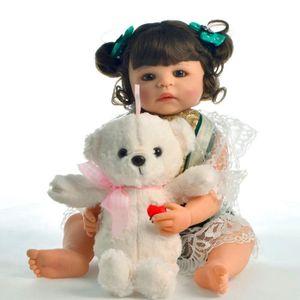 POUPÉE 22 pouce 55 cm Reborn bébé fille poupée corps enti