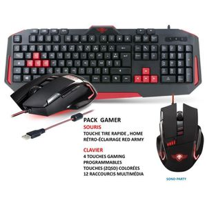 PACK CLAVIER - SOURIS PACK GAMING CLAVIER PROGRAMMABLE ANTIG-GOHSTING +S