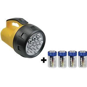PILES Lampe torche puissante 16 LEDS avec piles
