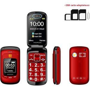 Téléphone portable Téléphone grosses touches mobile sénior à clapet -