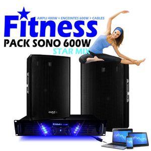 PACK SONO PACK SONO FITNESS 600W + AMPLI 480W + ENCEINTES 2X