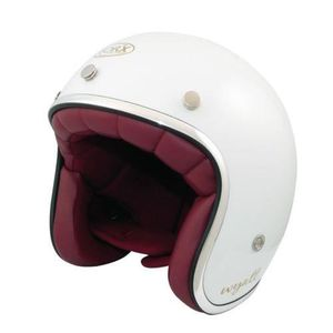 CASQUE MOTO SCOOTER CASQUE JET VINTAGE WYATT SHINY WHITE  (XXL)