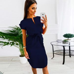 ROBE Robe mi-longue Femmes Casual Summer Ladies manches