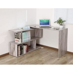 BUREAU  Bureau Informatique Coin en forme de L Bois Table