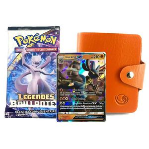 CARTE A COLLECTIONNER PACK Pokemon Lagiwa Orange avec 1 Cartes GX ou EX