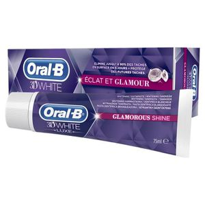 DENTIFRICE ORAL-B Dentifrice 3D WHITE LUXE Éclat & Glamour