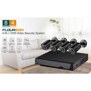 CAMÉRA DE SURVEILLANCE Floureon Kit de Caméra de Surveillance 1x 4CH 1080