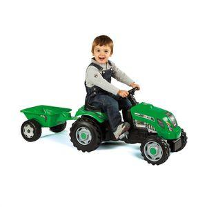 TRACTEUR - CHANTIER SMOBY Tracteur Grand Modèle à pédales + Remorque V